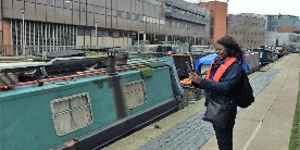 Licence Support Officer checks boat licences in London