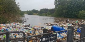 Plastic in River Calder