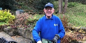 Stuart Crowther volunteering at Standedge Tunnel