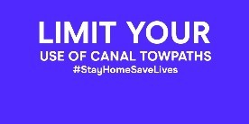 Limit your use of canal towpaths