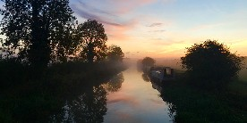 Sunset on the Kennet & Avon Canal