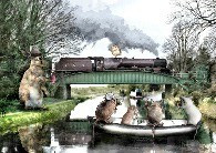 Bridge 133 Lancaster Canal with added fantasy mice by Brian Hughes