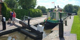 Tell lock-keepers that you have a disabled person aboard the boat