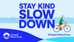 Illustration of the message 'Stay kind slow down'
