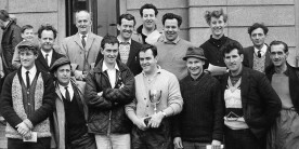 Team photo of Cofton Hackett - winners of the Angling Times winter league final in 1966