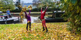 Autumn fun on the canal