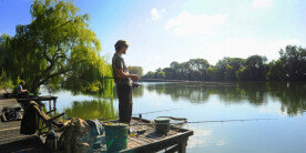 Angler at Clattercote Reservoir