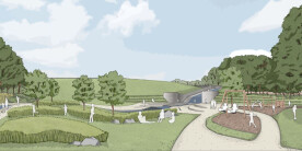 Artist's impression, view from Memorial Park