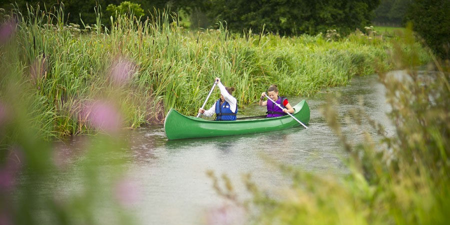 Canoeing in a Canadian Canoe
