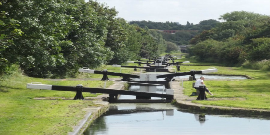 Flight of locks on Tame Valley Canal