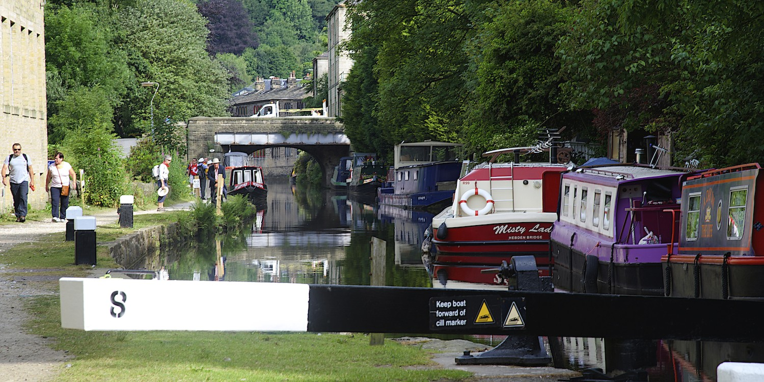 Narrowboats on the canal