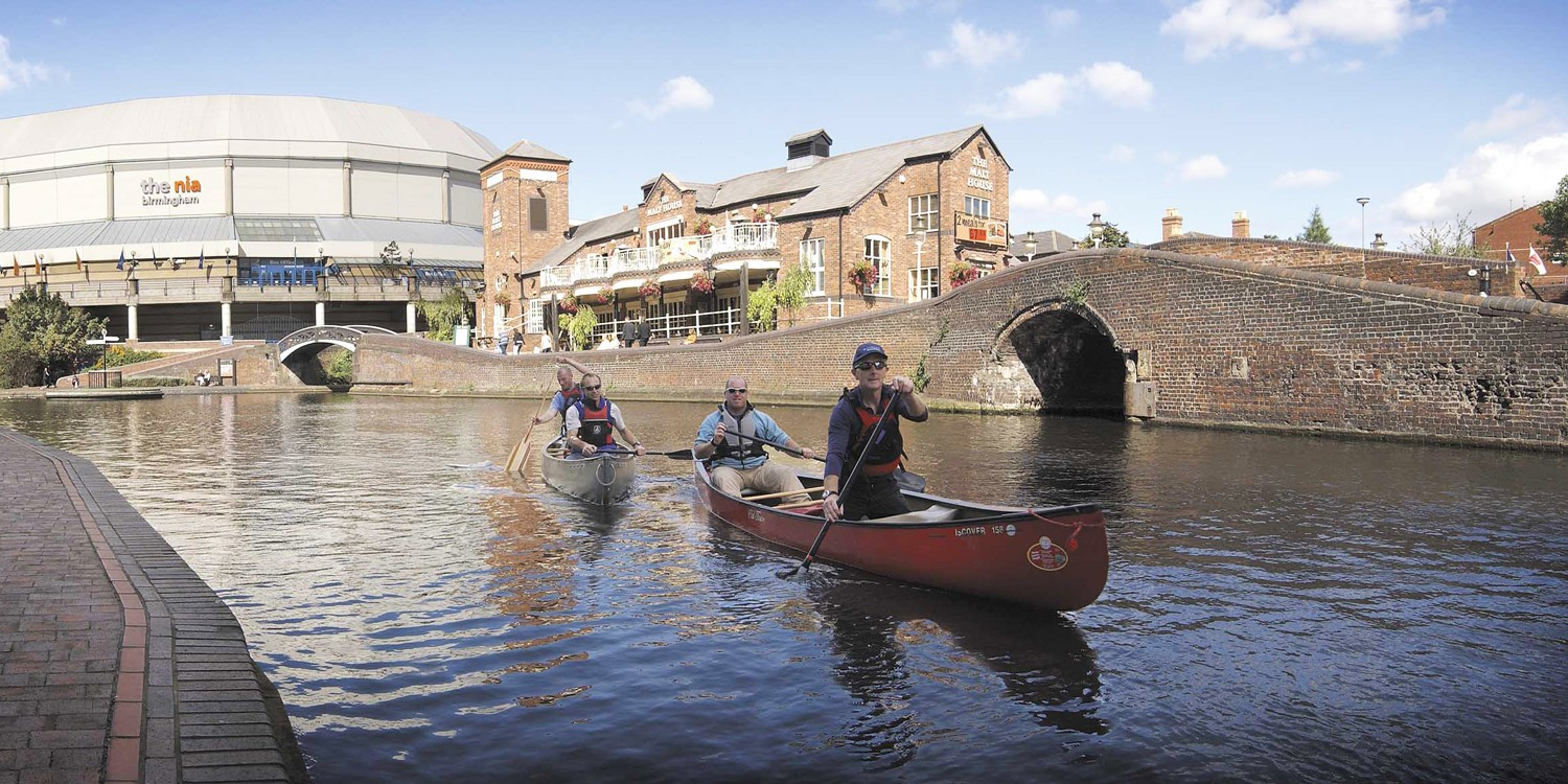 Canoeing on the Birmingham Canal Navigation