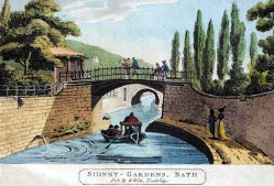 Painting of Kennet & Avon Canal in 1700s