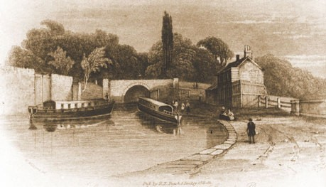 Sketch of Darlington Wharf in the past