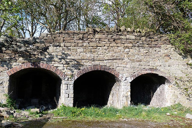 Arches which look like kilns may be coal stores for the mill