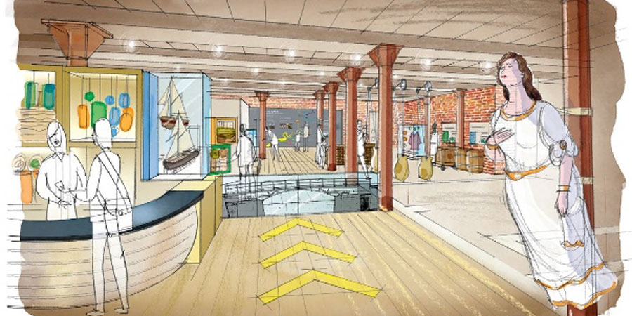 An artist's impression of the new Gloucester Waterways Museum
