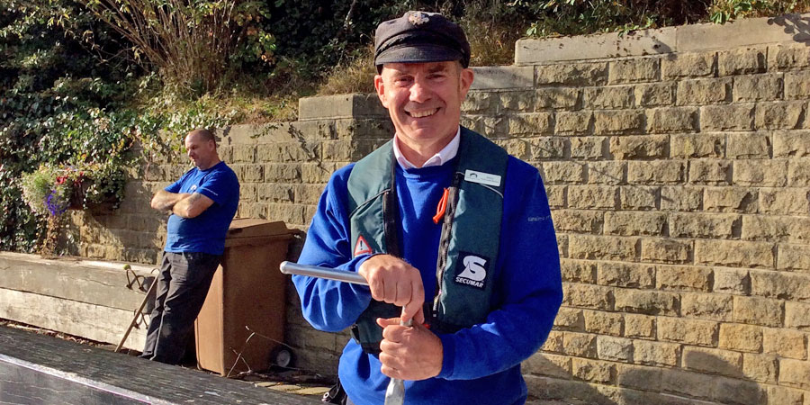 Billy the Lock Keeper at Tuel Lock