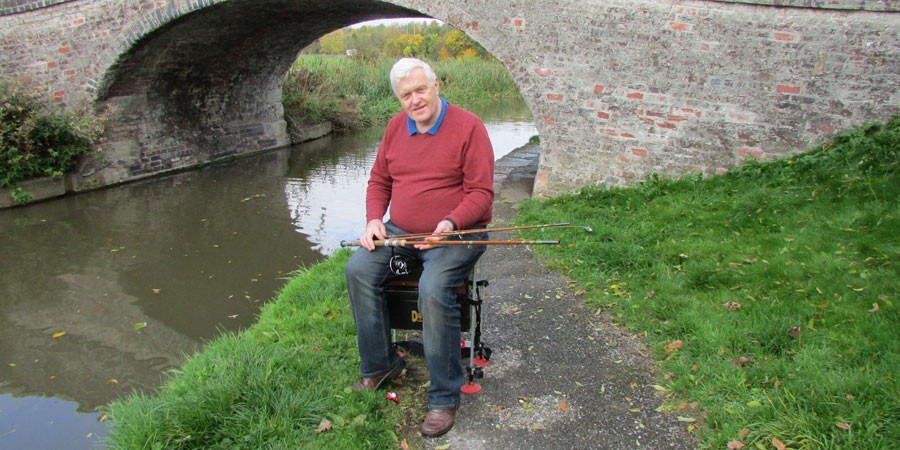 John Harding, angling on the Shropshire Union Canal