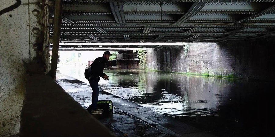 Fishing on the Regent's Canal