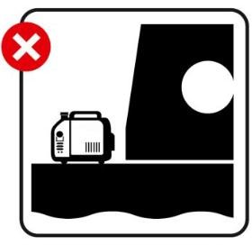 No generators on deck sign