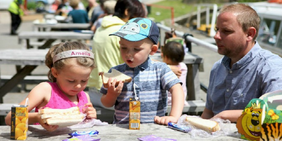 Family Picnic at Watersedge Cafe, Standedge Visitor Centre