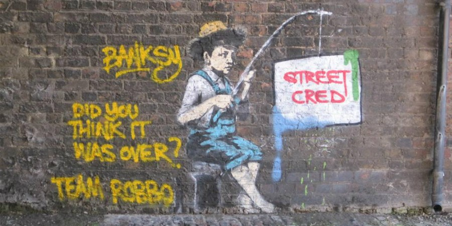 Banksy and Robbo in Camden 2010