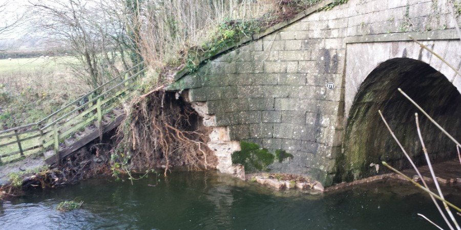 Flood damage at Stainton Aqueduct