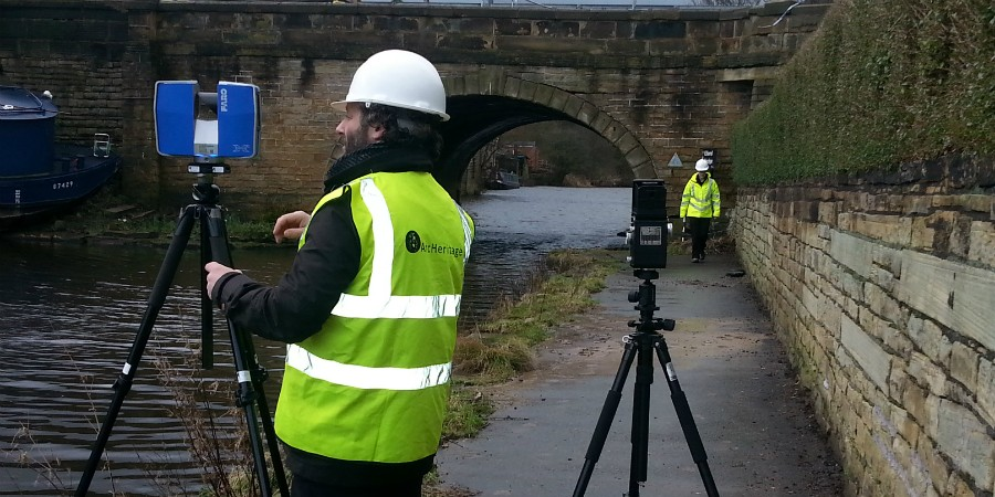 Surveying Elland Bridge