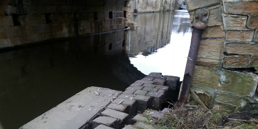 Flood damage to Elland Bridge