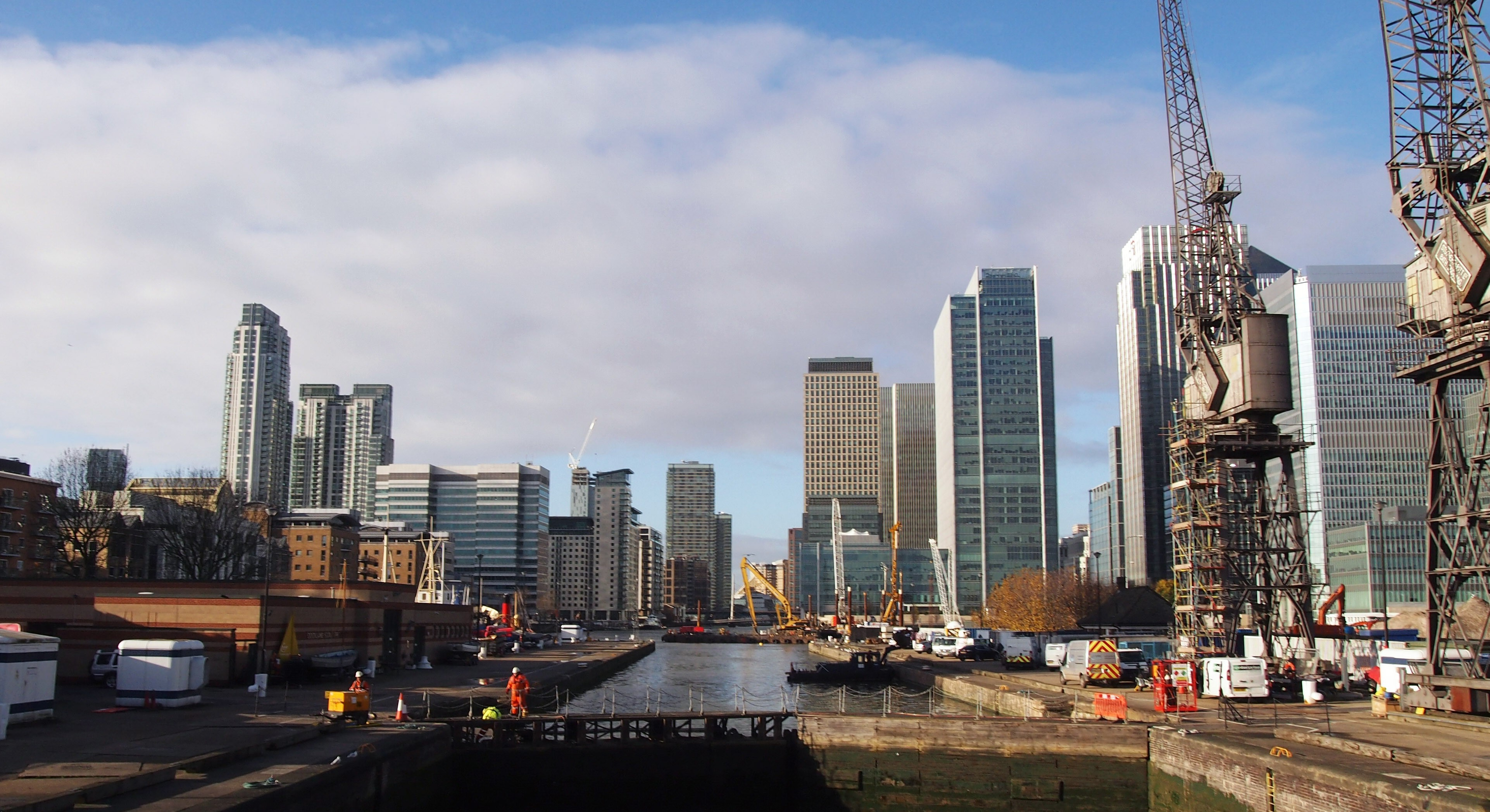 Photo of West India Docks view of Canary Wharf estate