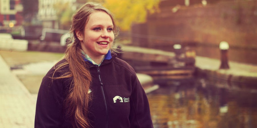 Fundraising manager by the towpath