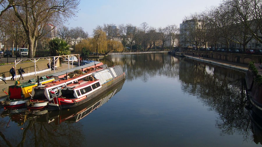 Photo of Little Venice pool with three boats