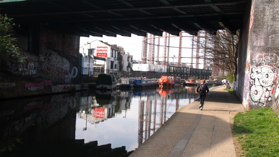 View of Regents Canal / Corbridge Crescent