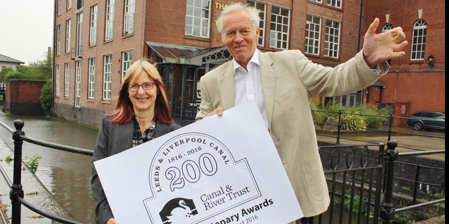 Waterway manager Chantelle Seaborn and partnership chairman Bob Pointing