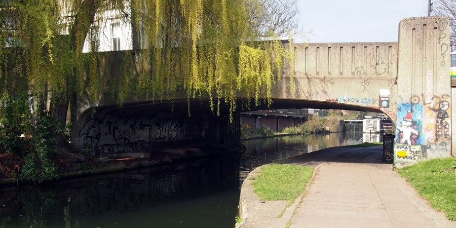 photo of cricketers bridge, bow wharf