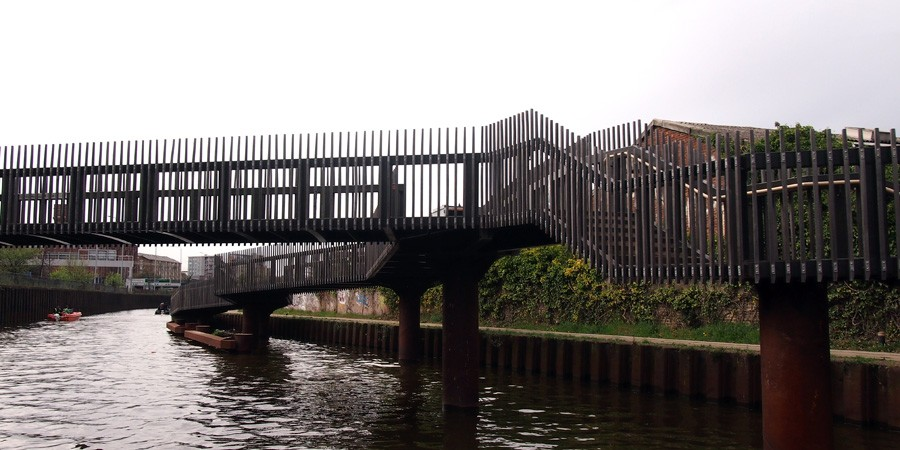 Photo of footbridge on the River Lea