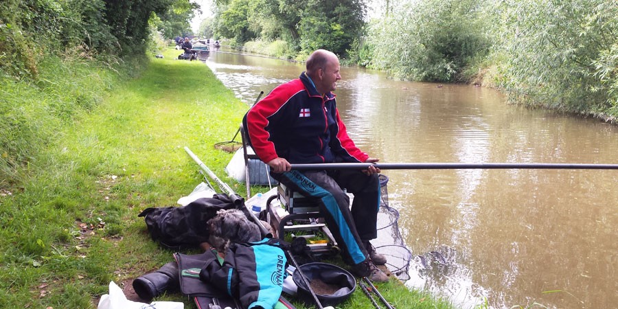Terry Nut fishing on the Shropshire Union Canal
