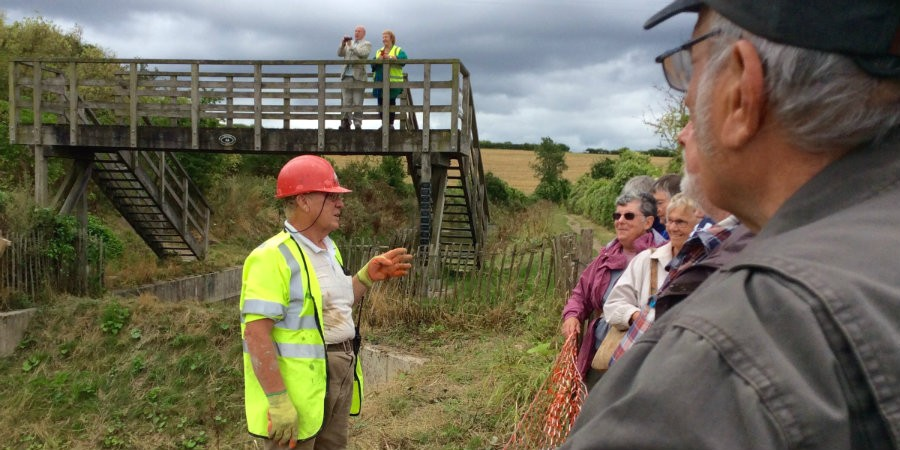 Ray Orth of the Wendover Arm Trust explains progress on re-lining the canal