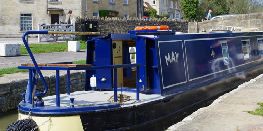 May, one of the boats from Carry on Barging