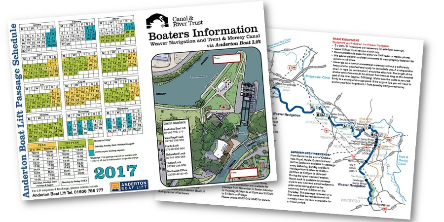 Anderton's boaters' booking guide
