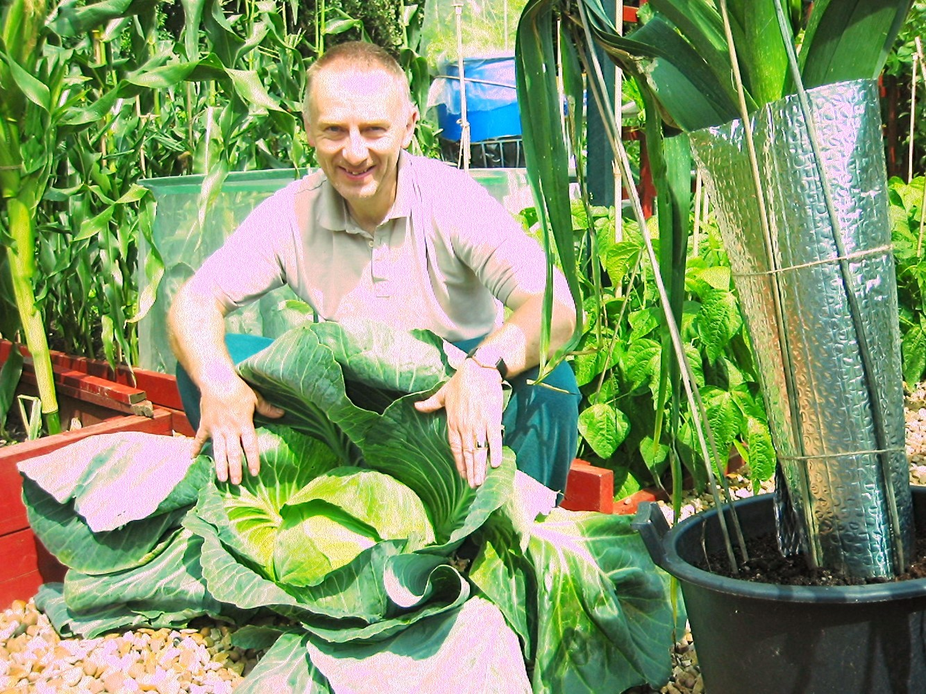 John and his favourite veg