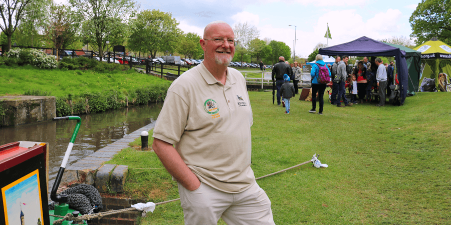 Nick on the Droitwich Canal after restoration