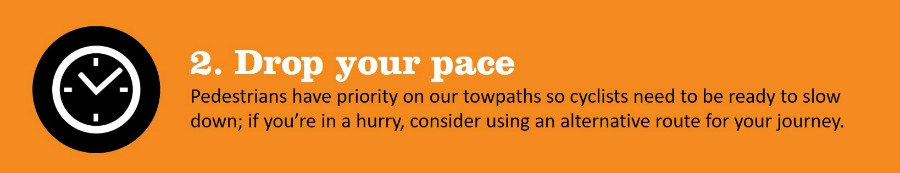 Drop your pace towpath code 2