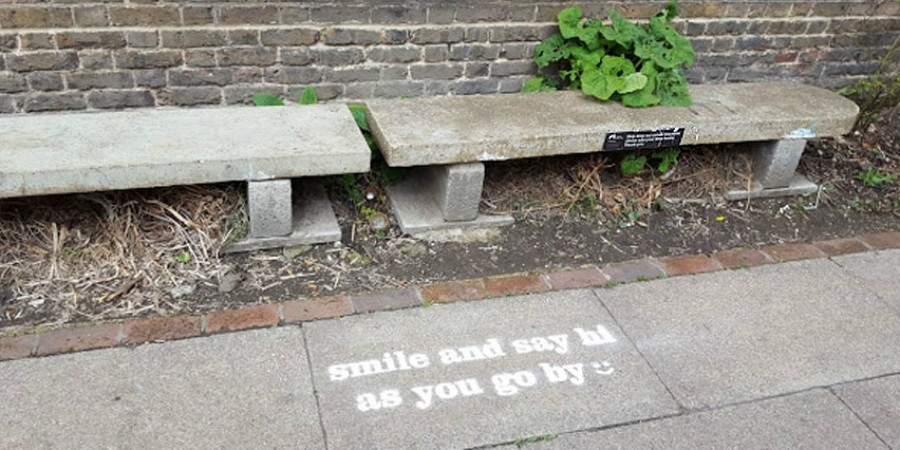 smile and say hi as you go by, share the space