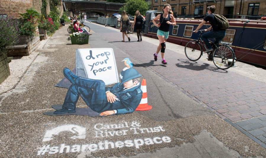 Share the space: sleeping policeman