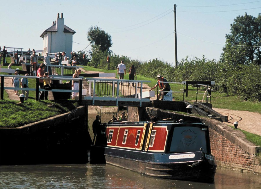 A boat at Foxton Locks