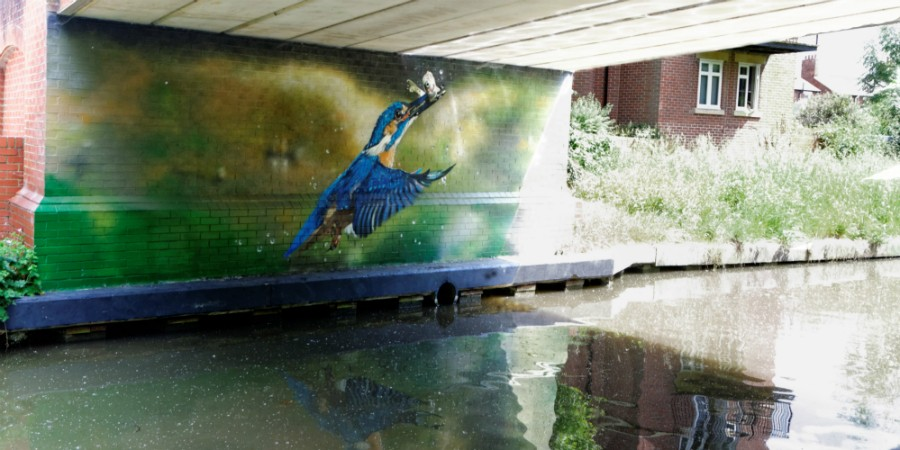 David heyford to oxford cycling canal river trust for Canal fluminense mural