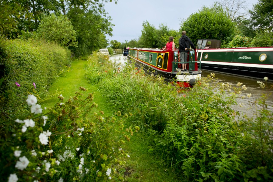 Boating on the Llangollen Canal