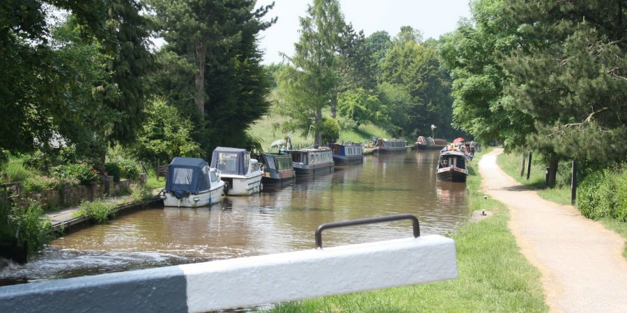 Boats on the Shropshire Canal