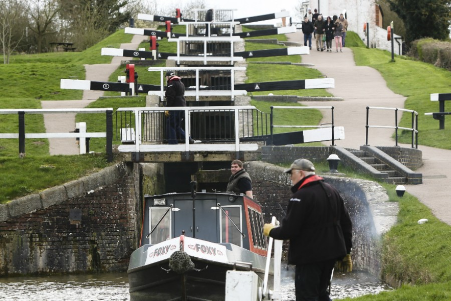 Looking up Foxton Locks
